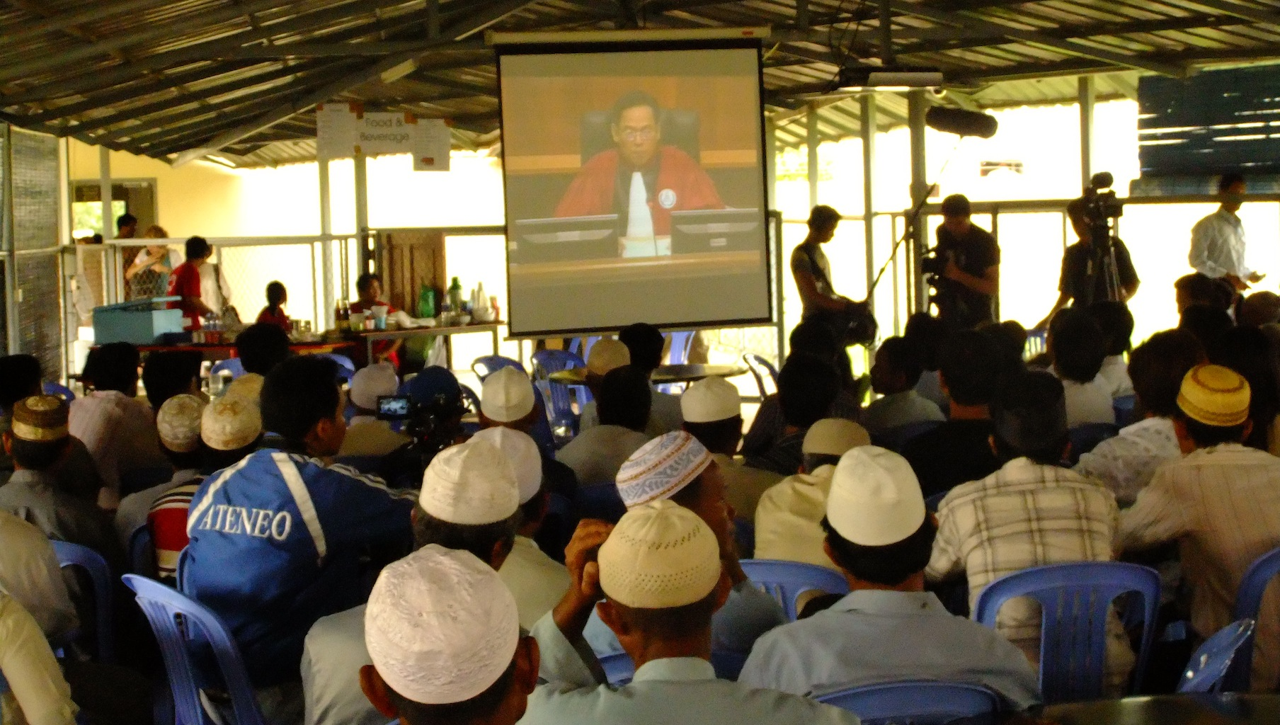 Cham Muslims listen to the Duch verdict at the ECCC (July 2010)