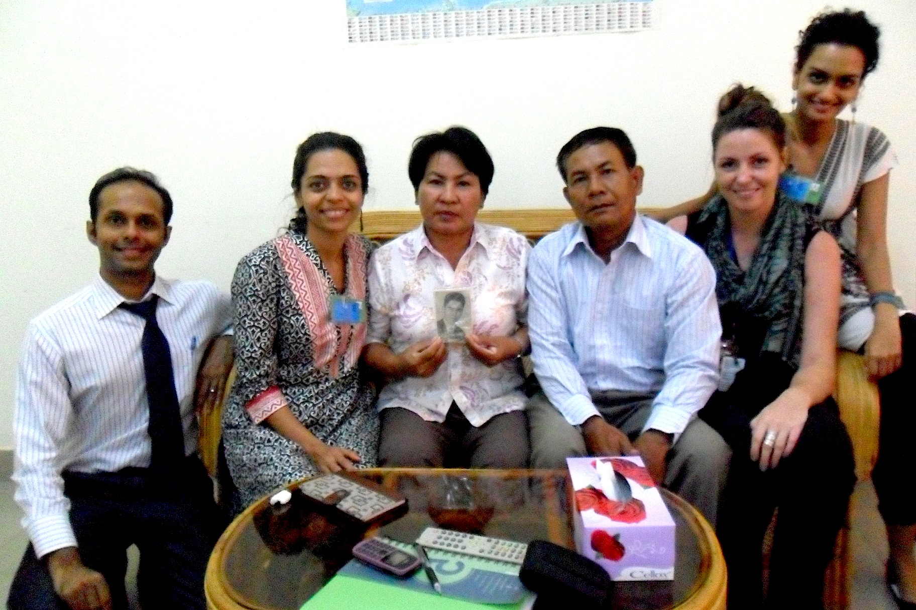 Members of AJA with Khmer Krom civil party Chau Ny and his wife San Sophum, after he testified in November 2012 (the first and only Khmer Krom to testify at the ECCC).