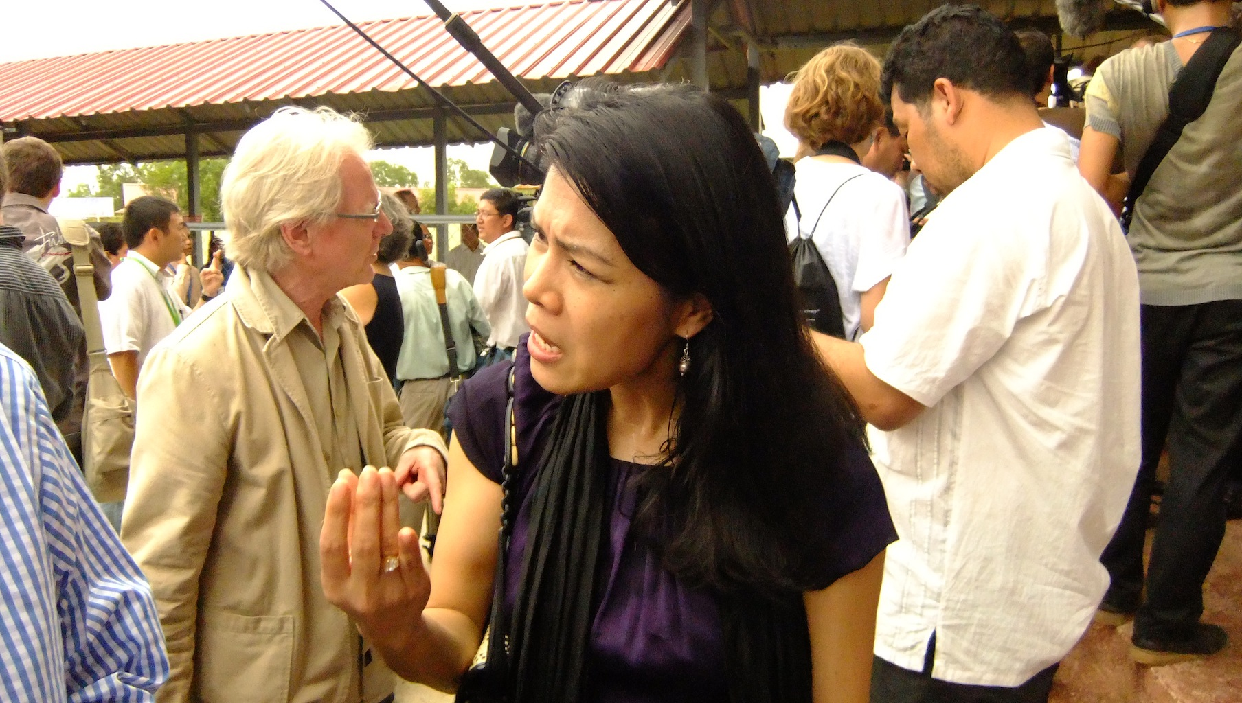 Activist and civil party Theary Seng responds to the Duch verdict outcome in July 2010.