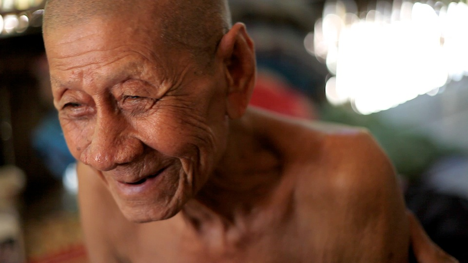 90-year old Touch Klang discusses how he pretended not to be Khmer Krom in order to survive (Photo by RS)